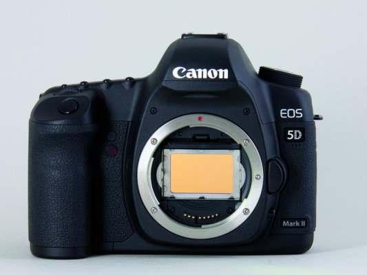 Canon mit Clip-Filter