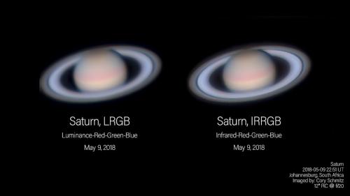 Vergleich IR-RGB und L-RGB an Saturn